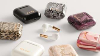 Kollektionen består av en hörlur i sju unika mönster, alla exklusivt framtagna för NA-KD för försäljning på na-kd.com.