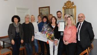 Elevhälsan på Vivallaskolan och Lundbyskolan tilldelades Örebro kommuns Jämställdhetspris 2015. Foto: Örebro kommun
