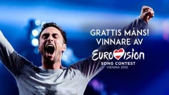 Måns Zelmerlöw #1 i 21 länder efter Eurovision Song Contest