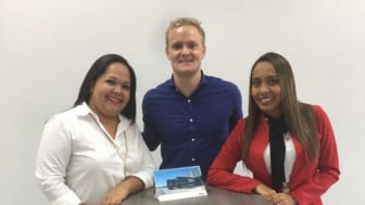 Picture from left: Joseline Ulloa, Operations Supervisor, Jonas Thoroe, Managing Director and Annette Harris, Finance Manager.