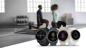 Die Venu 2 Serie unterstützt mit fortschrittlichster Gesundheitsanalyse und umfangreichen Fitness-Funktionen bei einem bewussteren und gesünderen Leben.