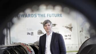 Högskolan Västs forskning inom svetsbaserad additiv tillverkning leds av Joel Andersson, professor i Materialvetenskap. Tekniken används av GKN Aerospace för tillverkning av flygmotorkomponenter i titan. Foto: Andreas Borg