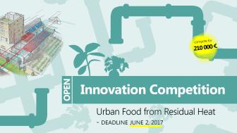 Open Innovation-tävling: Överskottsvärme blir stadens mat