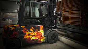 The hottest truck in the wood industry. (Photo Woodsafe)