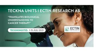Inför notering, teckning av units i Ectin Research AB