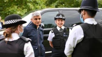 Commissioner Cressida Dick and Mayor Sadiq Khan