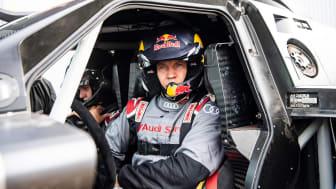Audi RS Q e-tron og Mattias Ekström (driver)