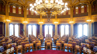 Stortingssalen. Foto: Stortinget.