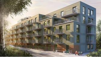 BSK Arkitekter formger nytt lamellhus i modern tappning för Tobin Properties