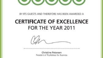 Trip Advisor hædrer Mythos Beach med award