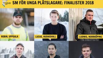 Finalisterna som tävlar som SM-medaljerna i byggnadsplåtslageri.