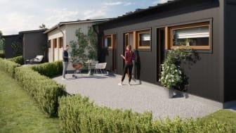 Lyckan är gjord i Kalmar: OBOS säljstartar enplansradhus