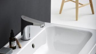 Berøringsfrie FM Mattsson 9000E Tronic gjør håndvasking enkel og hygienisk.