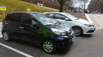 Nye biler ved Carl Berner t-banestasjon