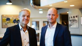 Fr v: Petter Viklund - Head of Fleet and Machinery NCC,  Pär Hugozon - Affärsenhets- och affärsområdeschef KGK.