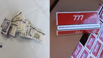 Money and Cigarettes recovered by HMRC officers