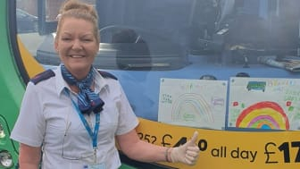 The Go North East uniform is set to change this Easter weekend, with colourful clothes being worn to champion fellow key workers