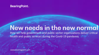 How BearingPoint help government and public sector organizations deliver critical health and public services during the Covid-19 Pandemic.