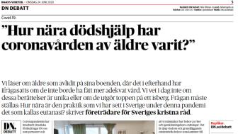 Presidiet för Sveriges kristna råd skriver idag på DN Debatt.