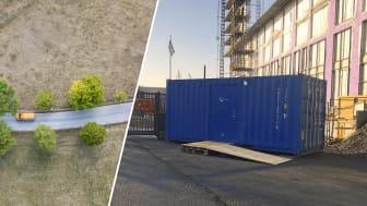 Best Transport har nu genomfört sina första leveranser till Qlocx-containrar på byggarbetsplatser