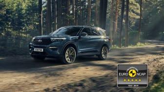 Ford Explorer Plug-In Hybrid har fått det högsta säkerhetsbetyget av Euro NCAP