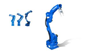 Ytterligare en robot i den nya GP-serien, MOTOMAN-GP25 med 25 kg hanteringskapacitet.