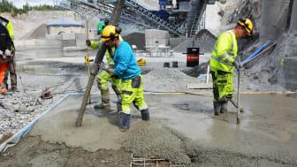 Testet bruk av maskinsand til betong i fullskala