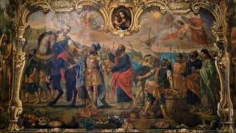 Väggmålning, aposteln Paulus ankommer Malta