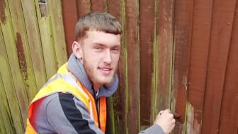 Luton Town youth player, defender Corey Panter, subbed for the senior team in their game against Wimbledon on Tuesday and was helping spruce up Flitwick the next day!