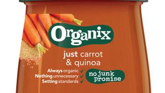 Organix just carrot & quinoa