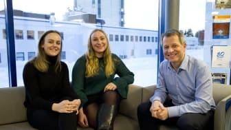 Tora Geisner, Skarnes og Kristine Fagerheim, Kongsvinger.  Mottakere av Mapeis studiestipender for 2018.