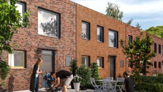 """Lyckos bygger två radhustyper i Södra Sandby; 21 """"Kvadraten"""" med 2-4 sovrum  på 118 kvadratmeter och 6 """"Vinkeln"""" med 3 sovrum på 110 kvadratmeter."""