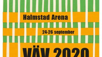 Officiell affisch för Vävmässan av formgivare Anna Kraitz.