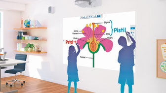 With finger-touch interactive function and PC- free annotation, you can easily transform any surface into an interactive environment.