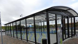 Cykelgaraget X-Rail nyligen invigt i Laholm