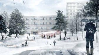 Skisse Kringsjå Torg vinter
