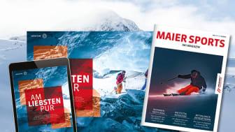 Produkthighlights, Wissenswertes und Reisetipps im neuen Maier Sports Ski Magazin