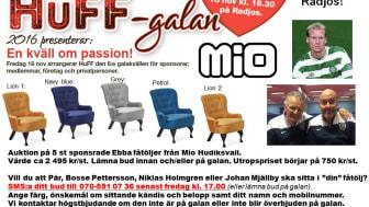 Auktion på HuFF-galan 2016.