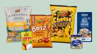 Orkla Suomelta kauppoihin snacks-uutuuksia ja sillejä joulusesonkiin