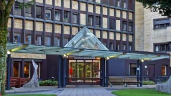 Sykehuset i Skien har 5000 pasientrom - alle med blandebatterier fra FM Mattson. Foto: Sykehuset Telemark