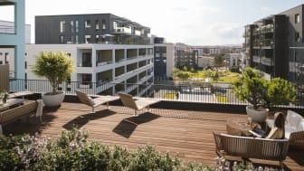 Futurehome skal levere sine smarthjem-løsninger til OBOS sitt boligprosjekt Ladebyhagen i Trondheim. Foto: OBOS
