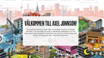 Axel Johnsons hemsida vinner designpris