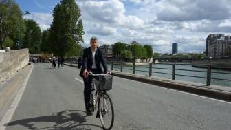 Christophe Najdovski, Vice borgmästare i Paris med ansvar för transporter och allmänna platser. Keynote speaker på Mobilitet & Beteende 2019, 6 mars i Karlstad.