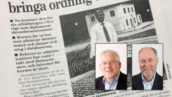 Eskil Swende och Claas Åkesson skapade utbildningen Diplomerad dataadministratör 1990 - sedermera Certifierad verksamhetsarkitekt.