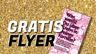 Gratis-Flyer für Ärzte und Apotheker. Sonderaktion zum Darmkrebsmonat März.