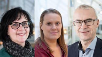 Ulrica Johansson, Maria Hjärtqvist och Tomas Fellbrandt. Foto: Skövde kommun