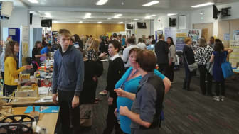 Teachers, students and partners at the STEM event in Moray College UHI