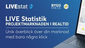 Nu kan du analysera byggprojektmarknaden i REALTID - med LIVEstat
