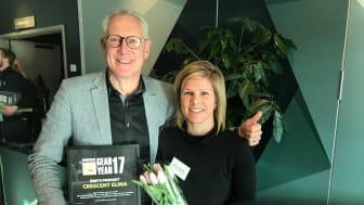 Jonas Netterström, VD  och Johanna Smedberg, Marknadschef för Cycleurope Sverige AB