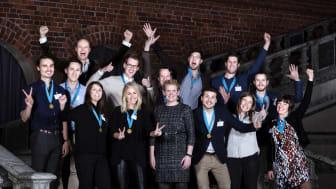 Vinnarna av Stockholms Innovationsstipendium 2017. Foto: Anna Rut Fridholm